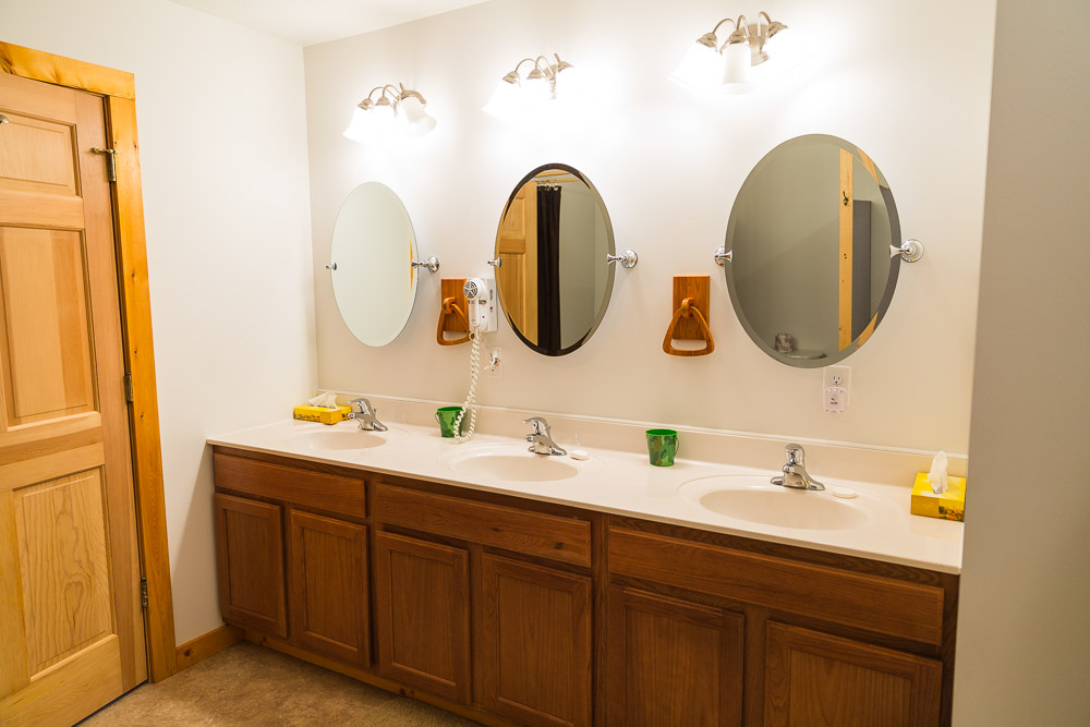 Clean, Modern Bathrooms at the Black Bear Lodge North