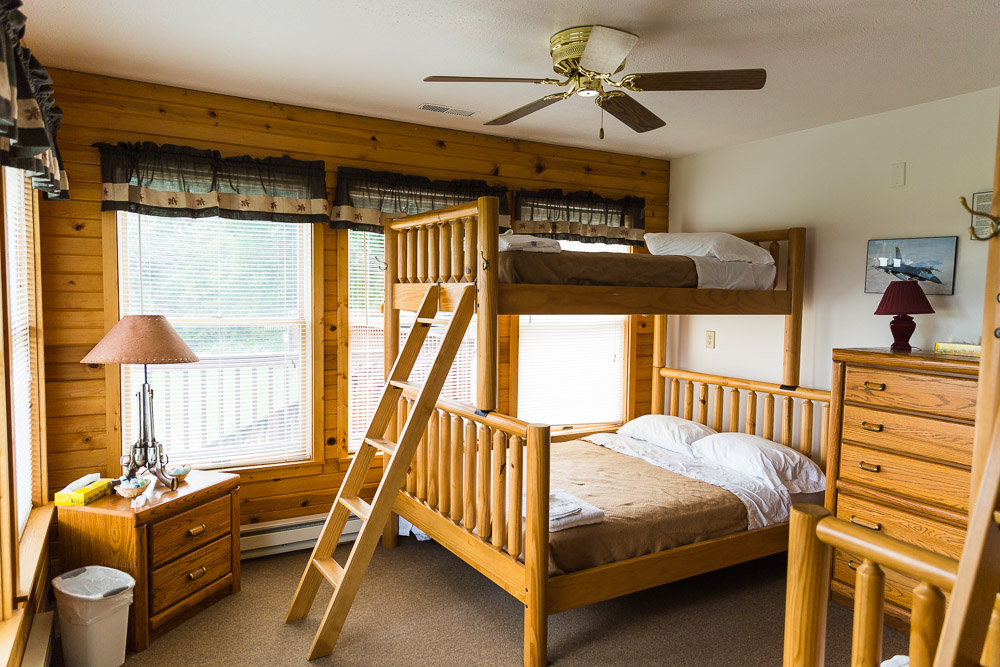 Bunk Beds in the Black Bear Lodge at THE SITE